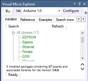 Arduino Development with Visual Studio via Visual Micro